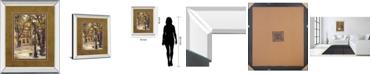 "Classy Art Provence Village II by Marilyn Hageman Mirror Framed Print Wall Art, 34"" x 40"""