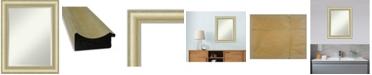 "Amanti Art Textured Light Gold-tone Framed Bathroom Vanity Wall Mirror, 23"" x 29"""