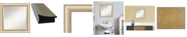 "Amanti Art Elegant Brushed Honey Framed Bathroom Vanity Wall Mirror, 24.75"" x 24.75"""