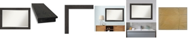 "Amanti Art Rustic Plank Framed Bathroom Vanity Wall Mirror, 41.38"" x 29.38"""