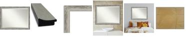 "Amanti Art Waveline Silver-tone Framed Bathroom Vanity Wall Mirror, 44.38"" x 34.38"""
