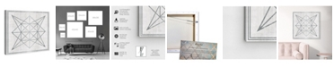 "Oliver Gal Whitewash Wood Geometric Star Canvas Art, 24"" x 24"""