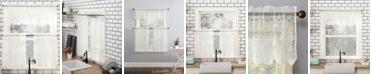 Lichtenberg No. 918 Joy Macrame Lace Trim Semi-Sheer Curtain Valance and Tiers Set 60x36