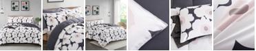 UNIKOME Printed Reversible Down Alternative Year Round 3-Piece Comforter Set, King