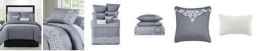 Style 212 Julia 7-Piece Scroll Print King Comforter Set
