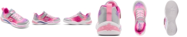 Skechers Little Girls' S Lights: Power Petals - Painted Daisy Sporty Casual Sneakers from Finish Line