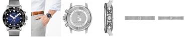 Tissot Men's Swiss Chronograph Seastar 1000 Stainless Steel Mesh Bracelet Watch 45.5mm