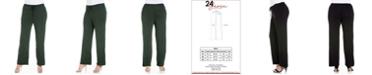 24seven Comfort Apparel Women's Plus Size Comfortable Stretch Pants