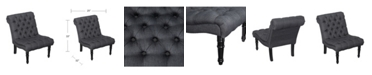 Southern Enterprises Ashmire Armless Upholstered Accent Chair