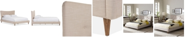 Furniture Jerell Modern King Linen Platform Bed