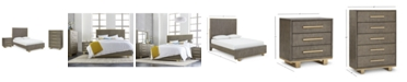 Furniture Petra Shagreen Bedroom Furniture, 3-Pc. Set (King Bed, Chest & Nightstand)
