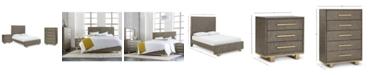 Furniture Petra Shagreen Bedroom Furniture, 3-Pc. Set (Queen Bed, Chest & Nightstand)
