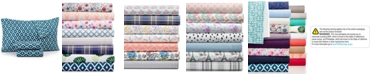 Sanders Printed Microfiber Full 4-Pc Sheet Set, Created for Macy's