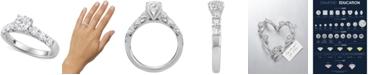Macy's Star Signature Diamond Engagement Ring (1-5/8 ct. t.w.) in 14k White Gold