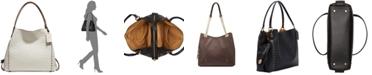 COACH Edie 31 Signature Embossed Leather Shoulder Bag