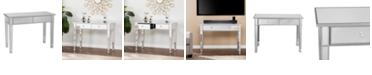 Southern Enterprises Mirage Mirrored 2-Drawer Console Table, Quick Ship