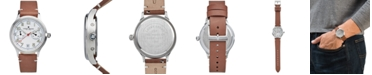 Lucky Brand Men's Jefferson Brown Leather Strap Watch 38mm