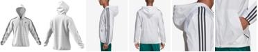 adidas Essentials Three-Stripe Hooded Windbreaker
