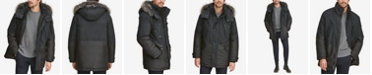 Marc New York Men's Mixed-Media Parka with Removable Hood