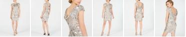 Calvin Klein Sequined Flower Cowl-Back Dress
