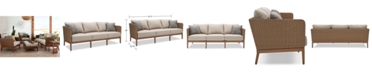 Furniture San Lazzaro Woven Outdoor Sofa, Created For Macy's