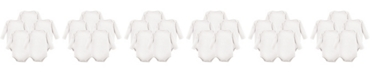 Hudson Baby Long Sleeve Bodysuits, 5-Pack, White, 0-24 Months
