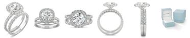 Charles & Colvard Moissanite Bridal Set (2-7/8 ct. t.w. Diamond Equivalent) in 14k white gold