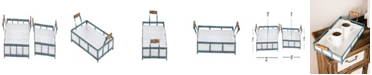 Rosemary Lane Set of 2 Farmhouse Metal Trays