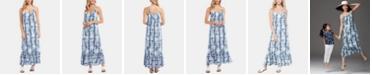 Karen Kane Tie-Dyed Ruffle-Hem Maxi Dress