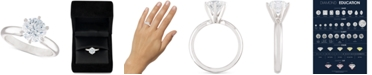 Macy's Certified Diamond Solitaire Engagement Ring (2 ct. t.w.) in 14k White Gold