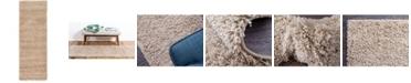 "Bridgeport Home Exact Shag Exs1 Taupe 2' 2"" x 6' 5"" Runner Area Rug"