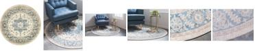 Bridgeport Home Bellmere Bel2 Ivory 4' x 4' Round Area Rug