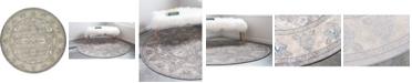 Bridgeport Home Bellmere Bel6 Gray 8' x 8' Round Area Rug