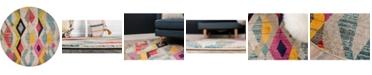 Bridgeport Home CLOSEOUT! Arcata Arc6 Multi 8' x 8' Round Area Rug