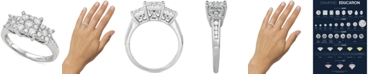 Macy's Diamond Triple Cluster Engagement Ring (3/4 ct. t.w.)