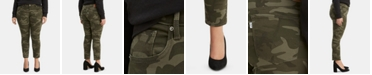 Levi's Trendy Plus Size 711 Camo-Print Skinny Jeans