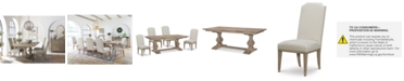 Furniture Rachael Ray Monteverdi Dining Furniture, 5-Pc. Set (Table & 4 Upholstered Side Chairs)