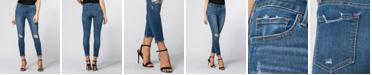 VERVET High Rise Distressed Ankle Skinny Jeans