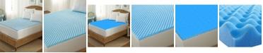 "Rio Home Fashions Arctic Sleep 1.5"" Memory Foam Topper - California King"