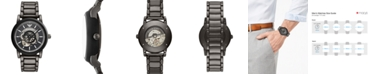 Emporio Armani Men's Gunmetal Stainless Steel Bracelet Watch 43mm
