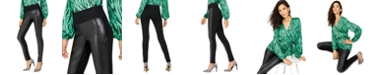 INC International Concepts INC Curvy Faux Leather Skinny Pants, Created for Macy's