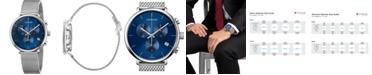 Calvin Klein Unisex Chronograph High Noon Stainless Steel Mesh Bracelet Watch 43mm