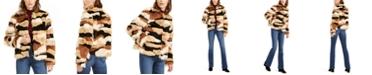 INC International Concepts I.N.C. Faux-Fur Calico-Print Coat, Created For Macy's