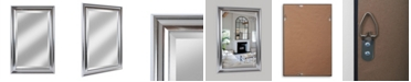 """Reveal Frame & Decor Alpine Concert Distressed Silver 26.5"""" x 41.5"""" Beveled Wall Mirror"""