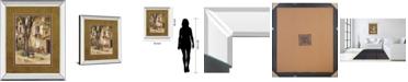 """Classy Art Provence Village I by Marilyn Hageman Mirror Framed Print Wall Art, 34"""" x 40"""""""