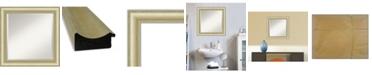 "Amanti Art Textured Light Gold-tone Framed Bathroom Vanity Wall Mirror, 25"" x 25"""