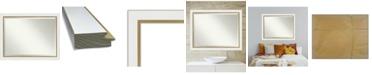 "Amanti Art Eva Gold-tone Framed Bathroom Vanity Wall Mirror, 45.25"" x 35.25"""