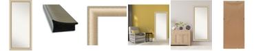 """Amanti Art Elegant Brushed Honey Framed Floor/Leaner Full Length Mirror, 28.75"""" x 64.75"""""""