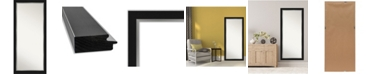 """Amanti Art Eva Silver-tone Framed Floor/Leaner Full Length Mirror, 29.25"""" x 65.25"""""""