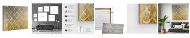 """Oliver Gal Arabesque Platinum Canvas Art, 43"""" x 43"""""""